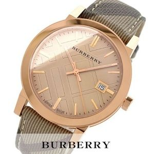 New Burberry Rose gold Women's Watch BU9040